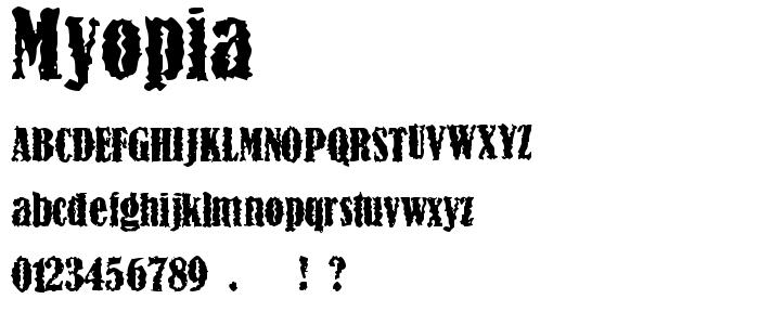 Myopia font