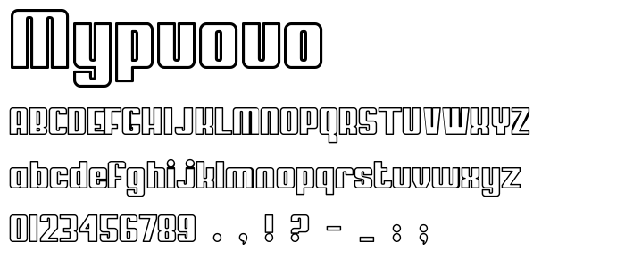 Mypuouo font