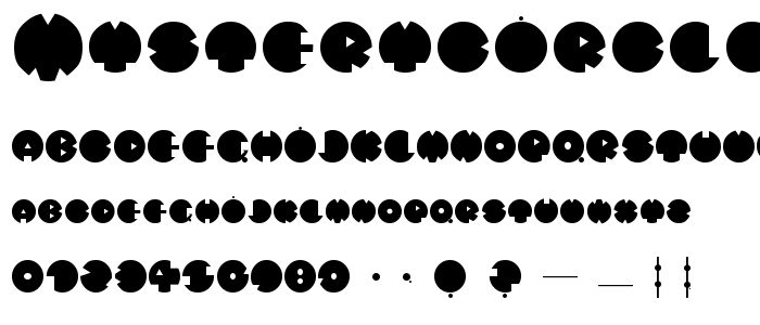 Mysterycircle font