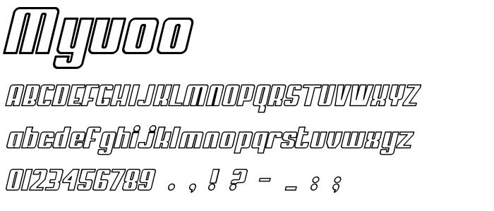 Myuoo font