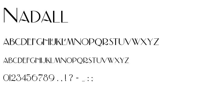 Nadall font