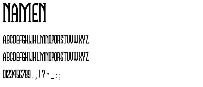 Namen font