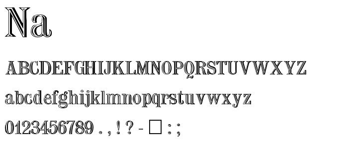 NA______.TTF font