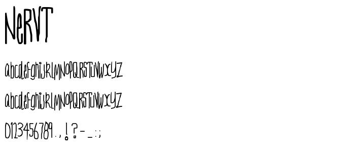 Nervt font