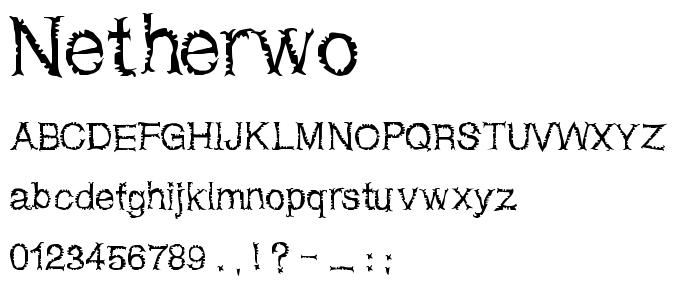 Netherwo font
