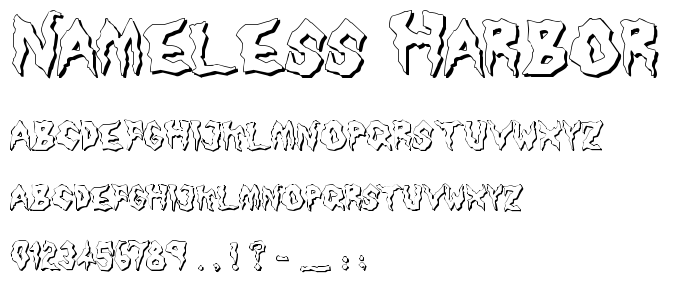 Nameless Harbor.ttf font