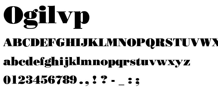 Ogilvp font
