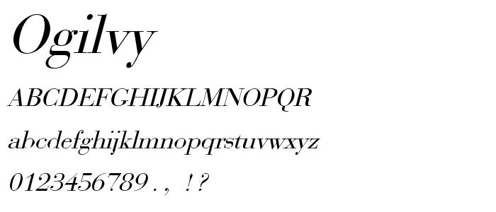 Ogilvy font