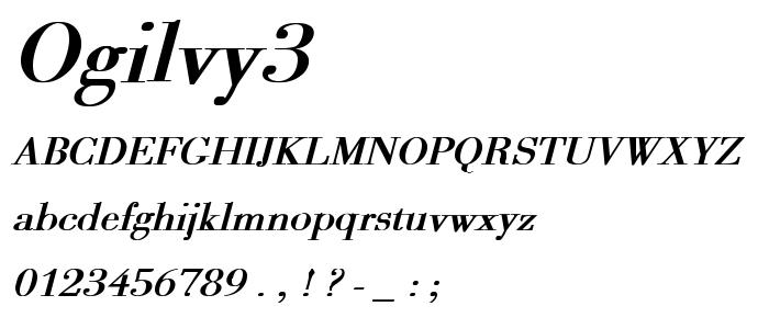 Ogilvy3 font
