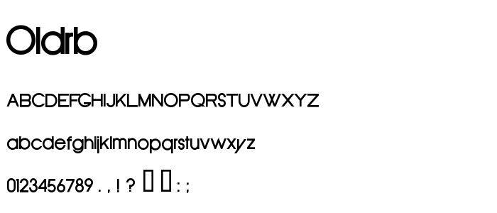 Oldrb font