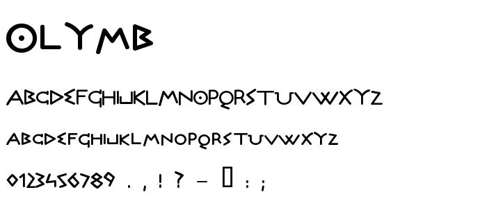 Olymb font