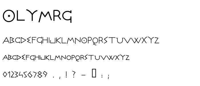 Olymrg font