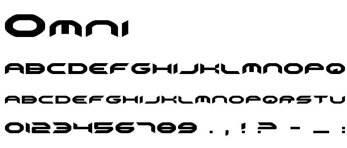 Omni font