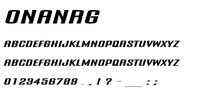 Onanrg font