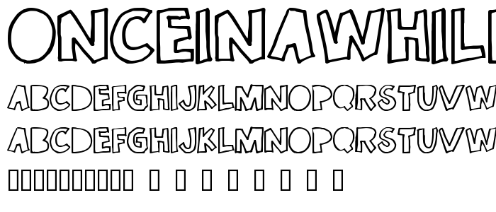 Onceinawhile font