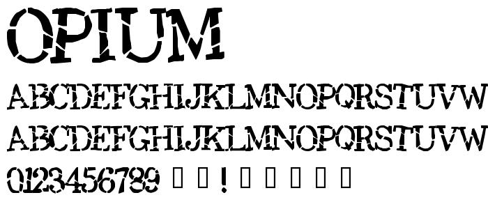 Opium font