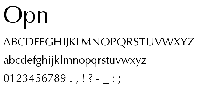 Opn font