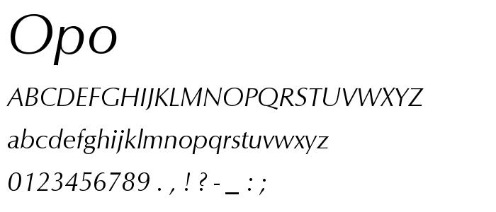 Opo font