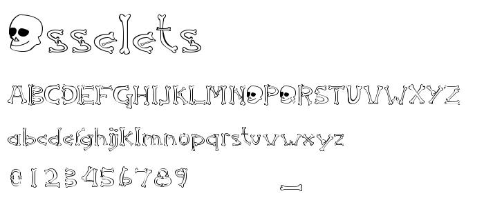 Osselets font