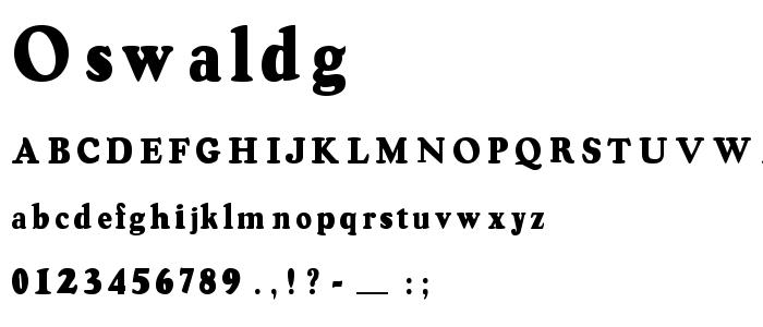 Oswaldg font
