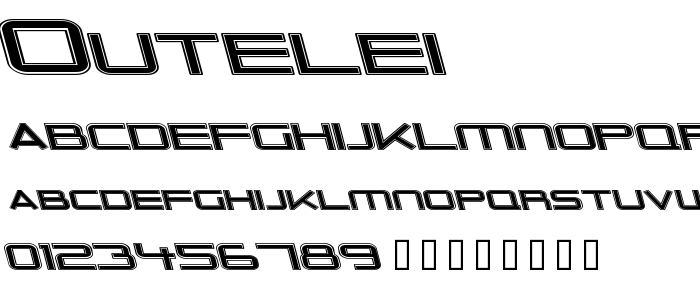 Outelei font