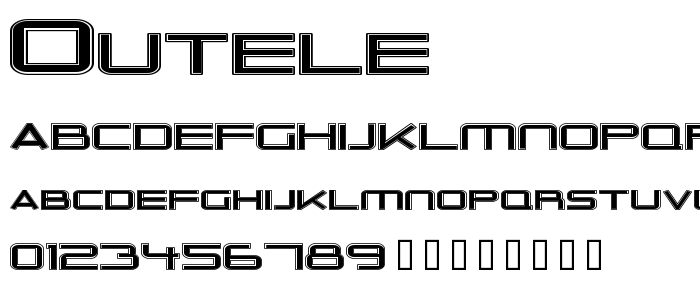 Outele font