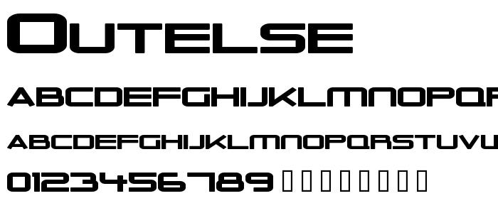 Outelse font