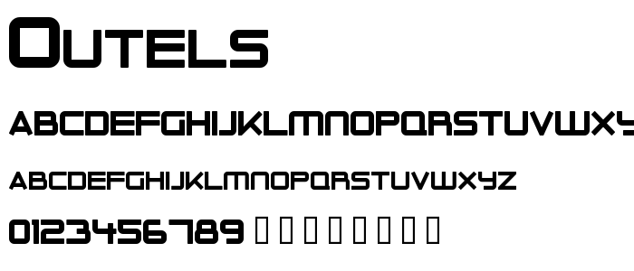 Outels font
