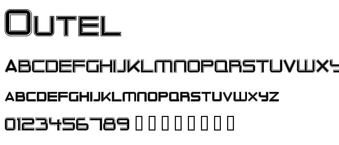 Outel font