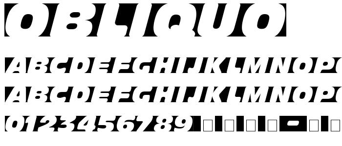 Obliquo.ttf font