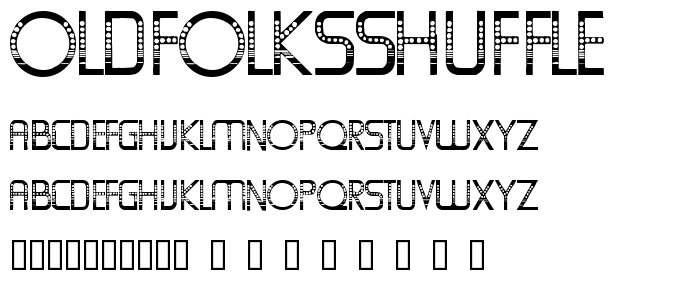 Oldfolksshuffle font