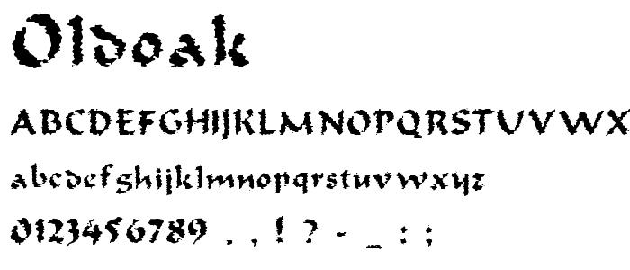 Oldoak font