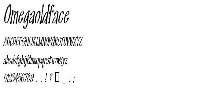 Omegaoldface font
