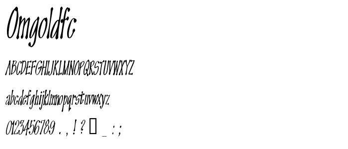 Omgoldfc font
