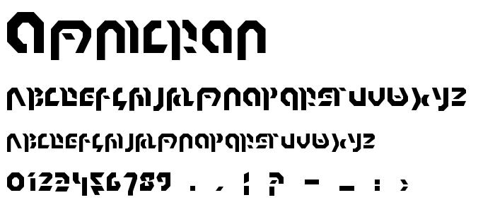 Omnicron font