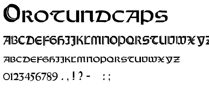 Orotundcaps font