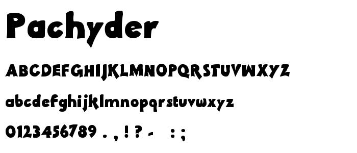 Pachyder font