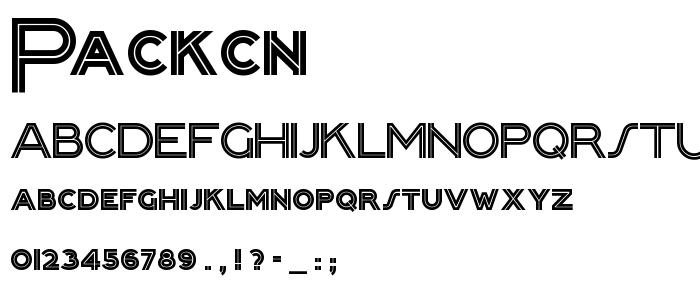 Packcn font