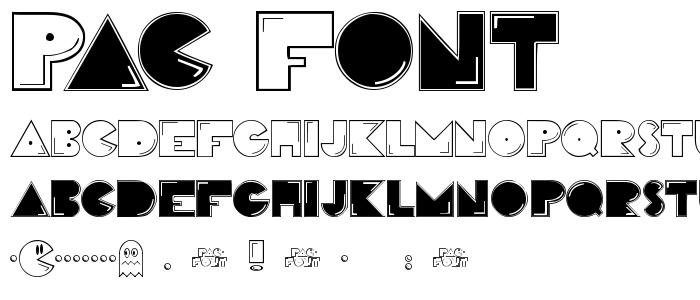 PAC_FONT.TTF font