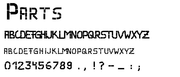 PARTS___.TTF font