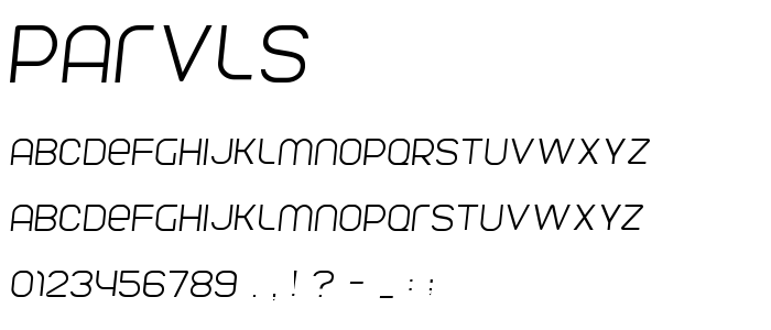 Parvls font
