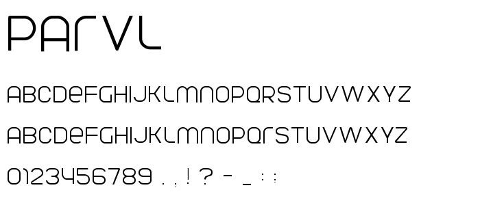 PARVL___.TTF font