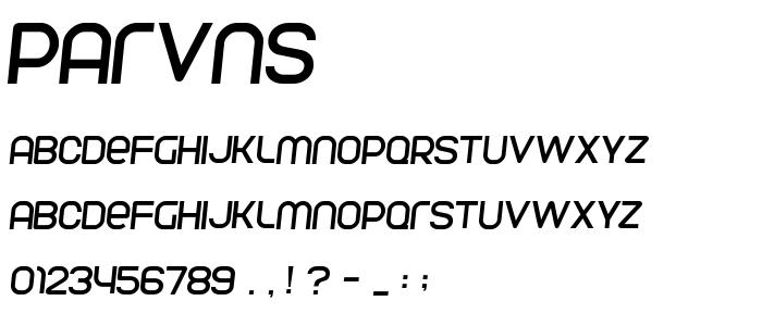 Parvns font