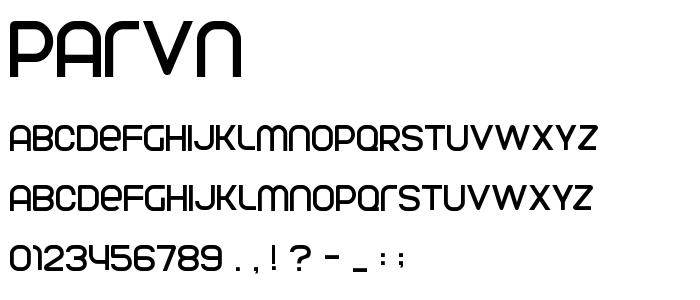 Parvn font