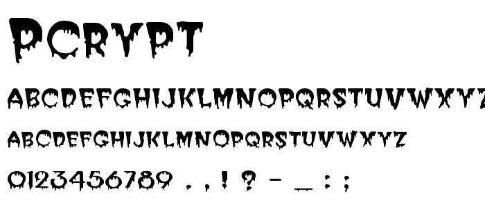 Pcrypt font