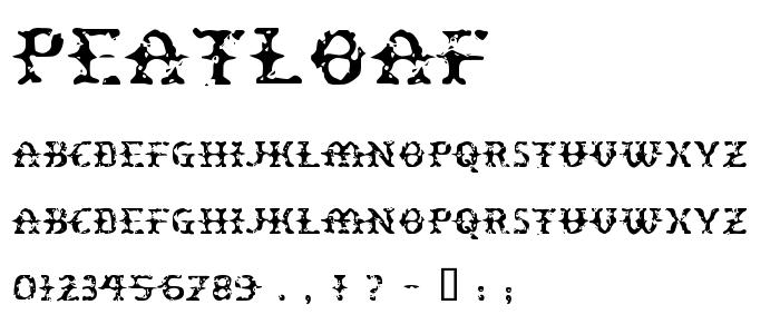 Peatloaf font