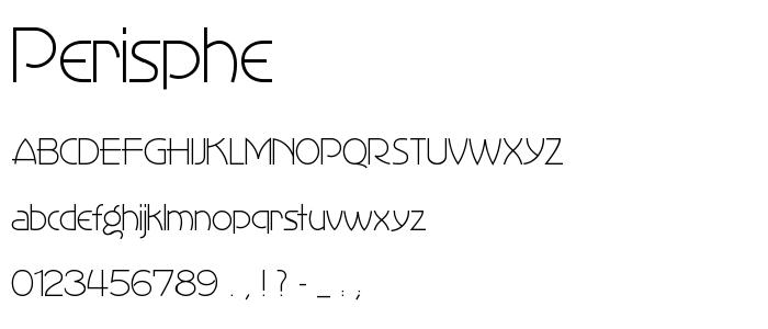 Perisphe font