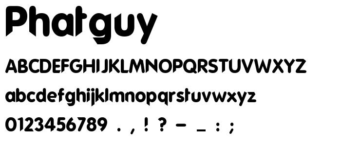 Phatguy font