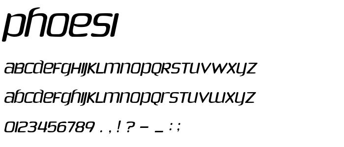 PHOESI__.TTF font