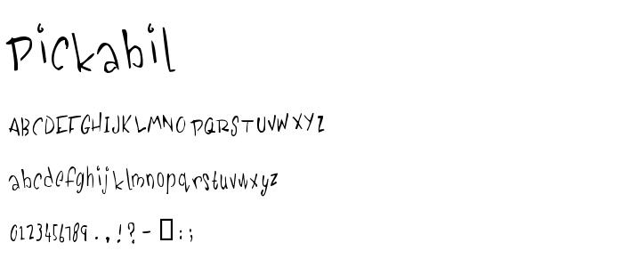 Pickabil font